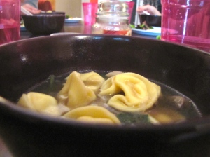 Tortellini & Spinach Soup