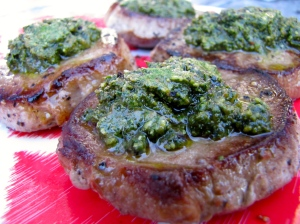 Pesto (with steak)